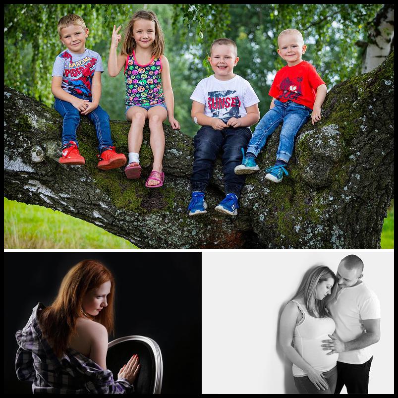 Ateliérové fotografování - Rodinné, portrétní, těhotenské fotografie