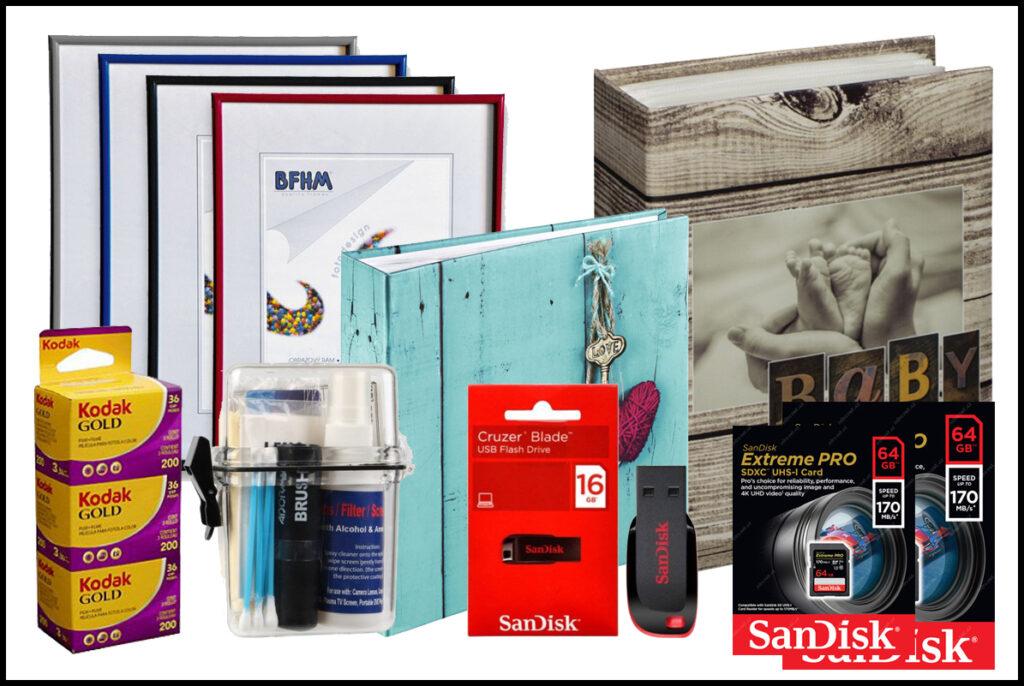 Na prodejně pro Vás máme nachystaný velký výběr fotopotřeb a fotopříslušenství.