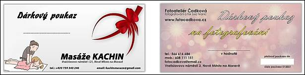 Dárkové poukazy, pozvánky, tisk dárkových poukazů, tisk pozvánek